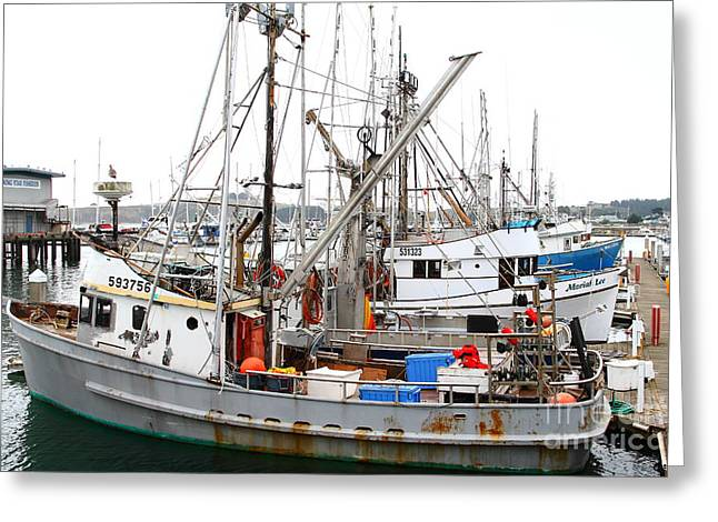 Fishing Boats In Pillar Point Harbor At Half Moon Bay California . 7d8206 Greeting Card