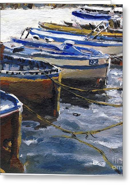 Fishing Boats In Procida Greeting Card