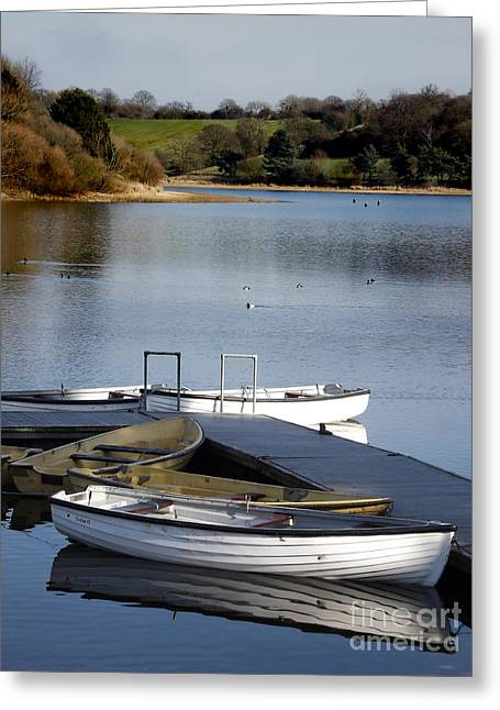 Greeting Card featuring the photograph Fishing Boats by Linsey Williams