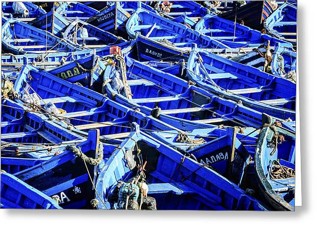 Fishing Boats Greeting Card by Marion McCristall
