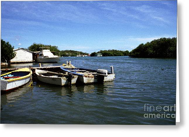 Fishing Boats Paguera Greeting Card by Thomas R Fletcher