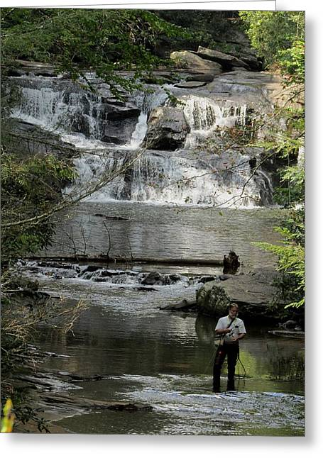 Fishing For Trout Greeting Card