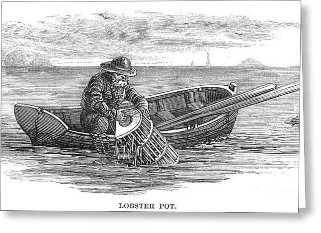 Fishing: Lobsterman, 1875 Greeting Card by Granger