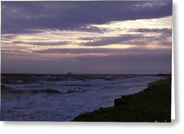 Greeting Card featuring the photograph Fishing Pier Before The Storm 14a by Gerry Gantt