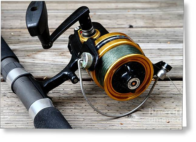 Fishing Rod And Reel . 7d13549 Greeting Card by Wingsdomain Art and Photography