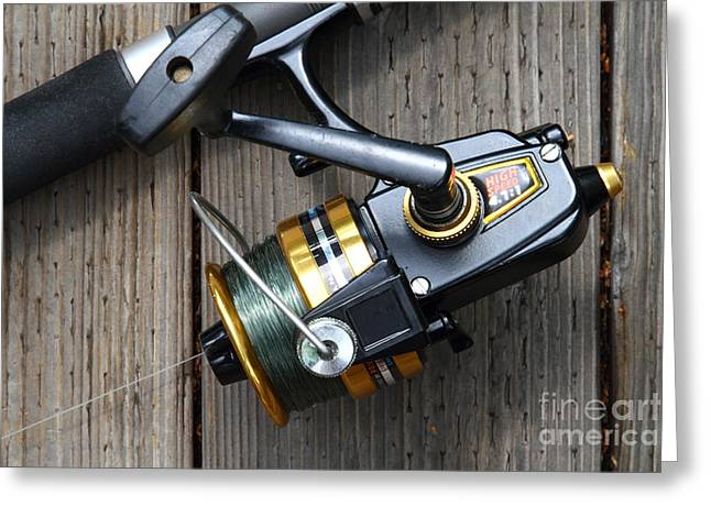 Fishing Rod And Reel . 7d13565 Greeting Card