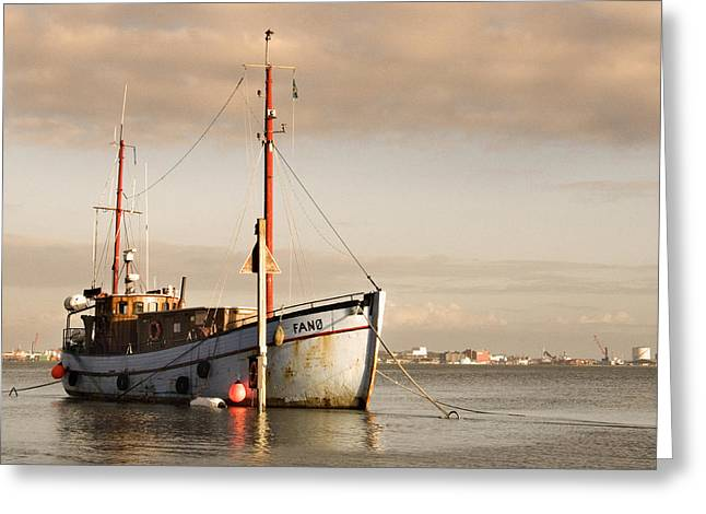 Greeting Card featuring the photograph Fishing Trawler by David Harding