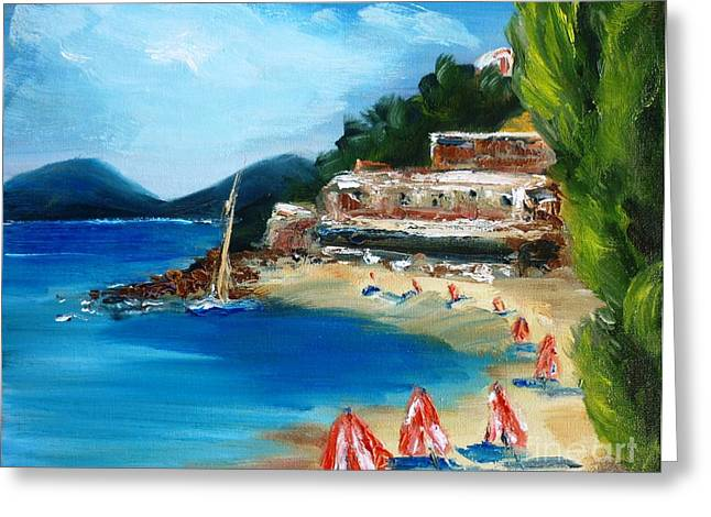 Fishing Village Of Greece Greeting Card