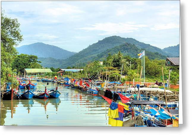 Fishing Village3 Greeting Card by KH Lee