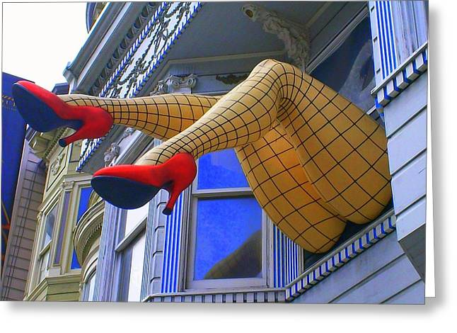 Fishnet Stockings Greeting Card by Randall Weidner