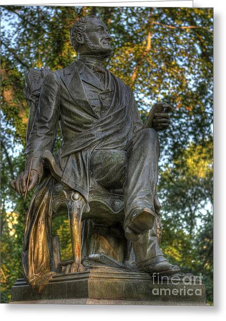 Fitz Greene Halleck In Central Park Greeting Card by Lee Dos Santos