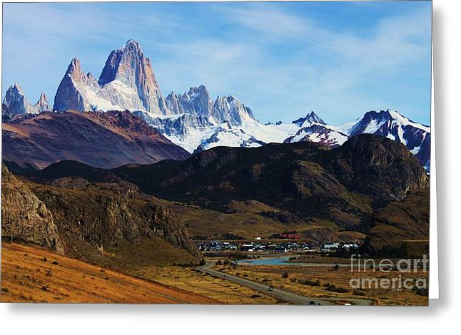 Fitz Roy Greeting Card by Bernard MICHEL