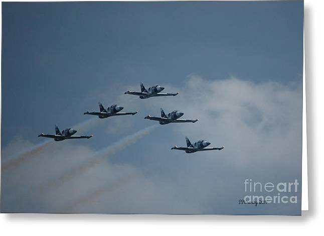 Five Man Formation Greeting Card