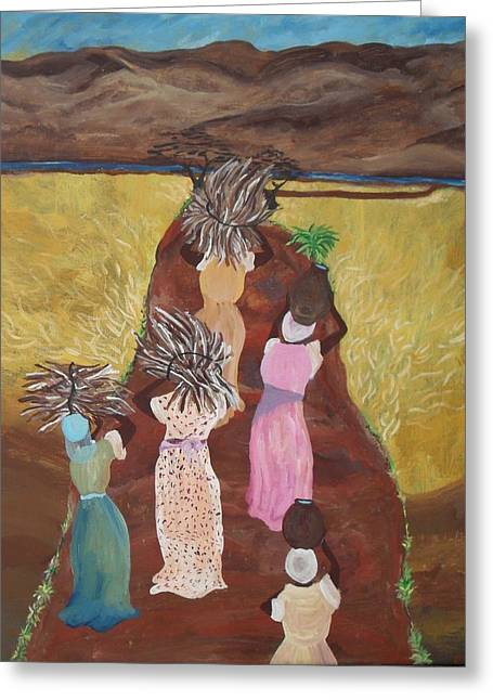 Five Women Greeting Card by Charisma Franklin