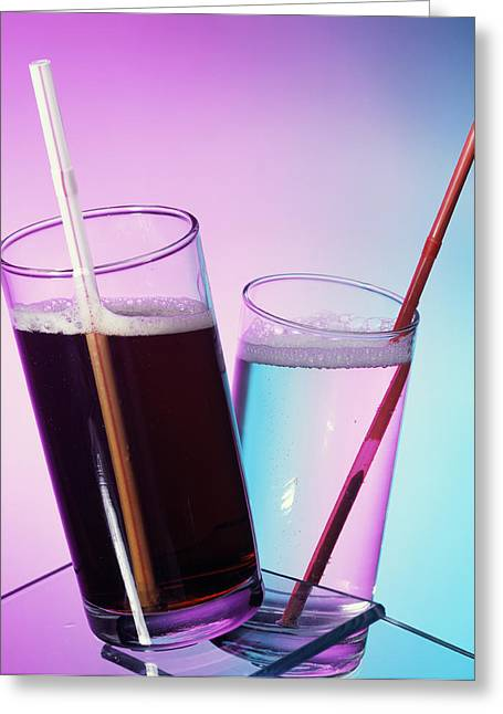 Fizzy Drinks Greeting Card by Sheila Terry