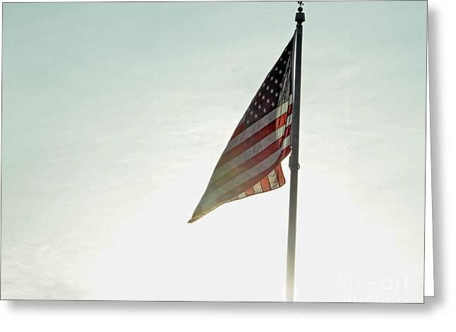 Flag Greeting Card by Billie-Jo Miller