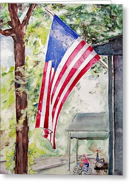 Flag Day Greeting Card by Regina Ammerman