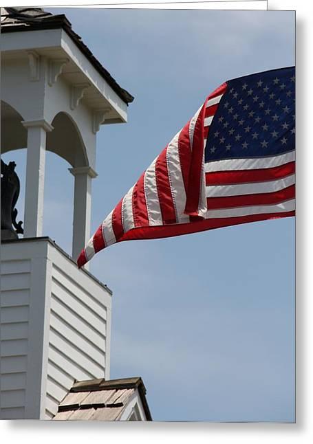 Flag Flies Greeting Card by Elizabeth Sullivan