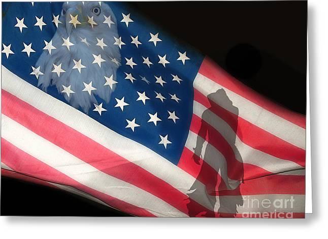 Flag IIi Greeting Card by Billie-Jo Miller