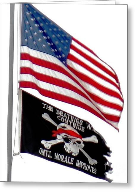 Flags Greeting Card by Judyann Matthews