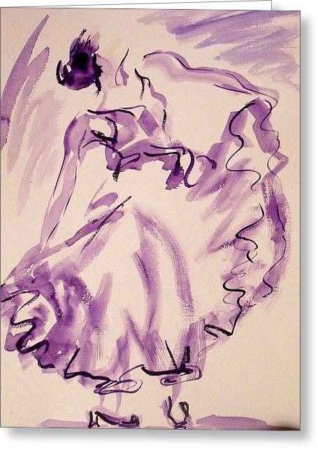 Flamenco Dancer 11 Greeting Card