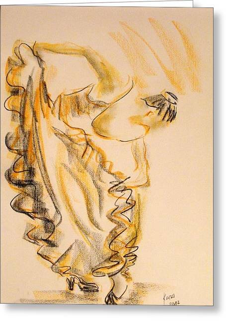 Flamenco Dancer 2 Greeting Card