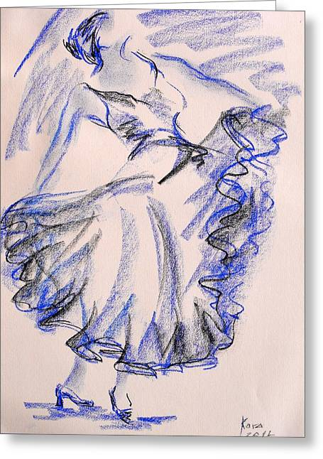 Flamenco Dancer 8 Greeting Card