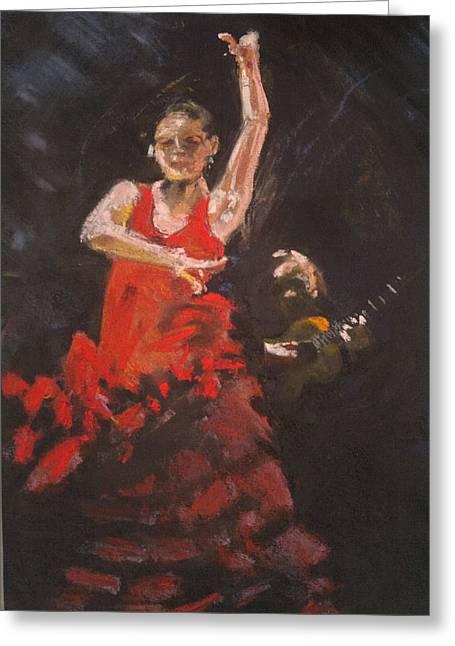 Flamenco Dancer Greeting Card by Paul Mitchell