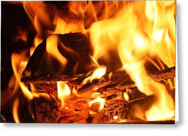Flames 1 Greeting Card