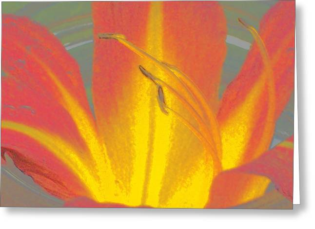 Flames Greeting Card by Wide Awake Arts
