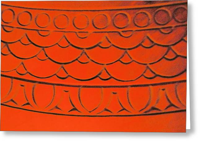 Flaming Arches Greeting Card by