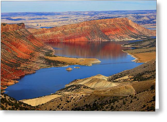 Flaming Gorge Greeting Card by Donna Duckworth