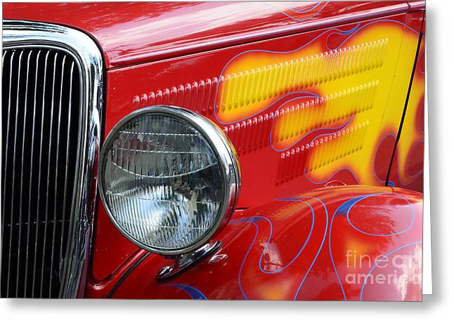 Flaming Hot Rod 2 Greeting Card by Bob Christopher