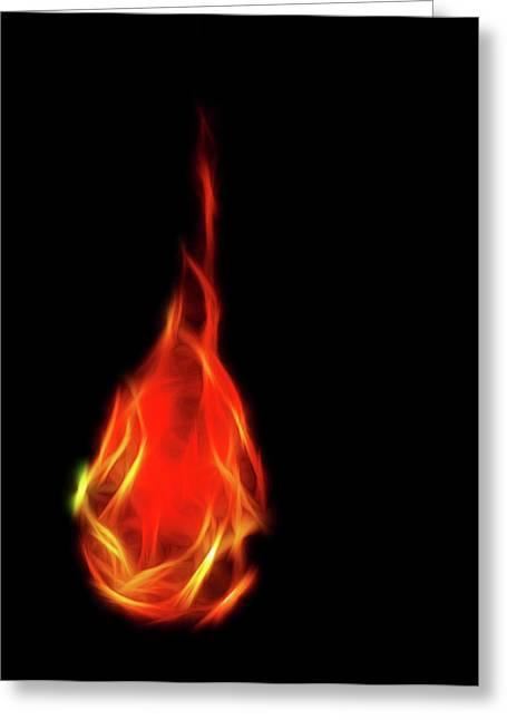 Flaming Tear Greeting Card