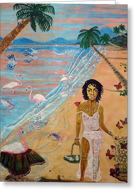 Flamingo Hills Greeting Card