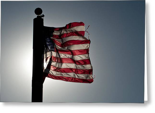 Flappin Old Glory Greeting Card by Keith Sanders