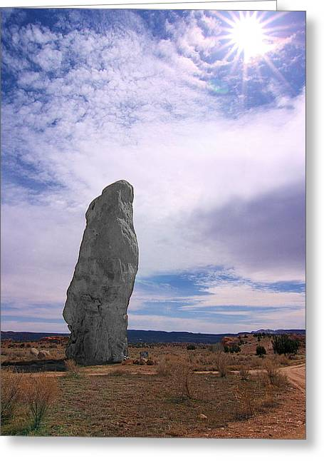 Flat Chimney Rock Greeting Card