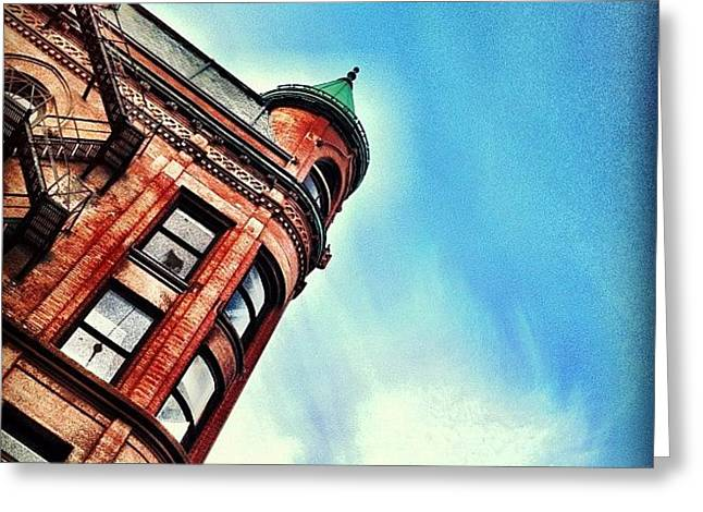 Flat Iron Building Greeting Card by Christopher Campbell