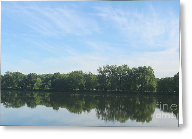 Greeting Card featuring the photograph Flat Water by Nancy Dole McGuigan