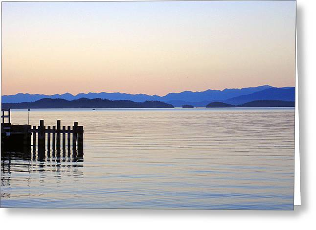 Flathead Lake At Dusk Greeting Card