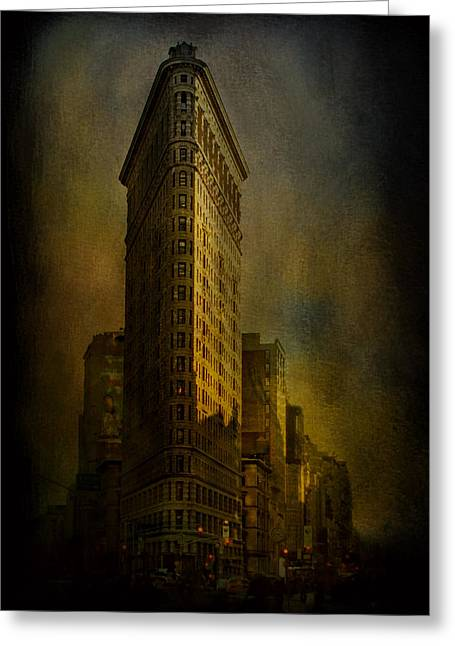 Flatiron Building...my View..revised Greeting Card by Jeff Burgess