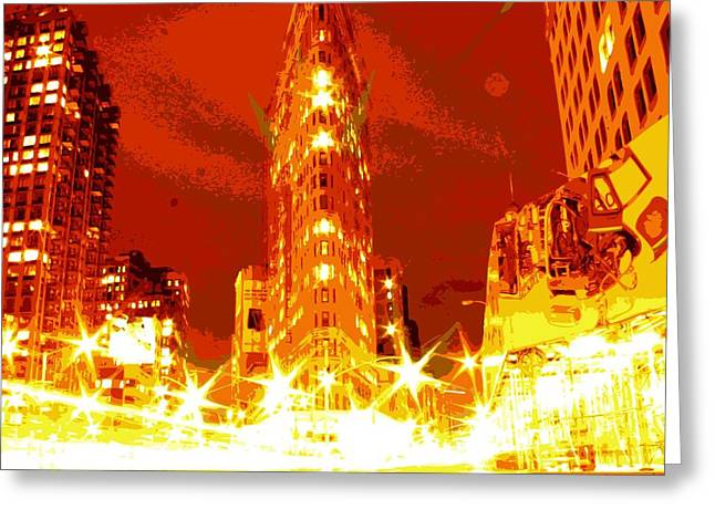 Flatiron Color 16 Greeting Card by Scott Kelley