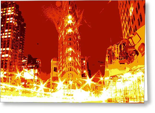 Flatiron Color 6 Greeting Card by Scott Kelley