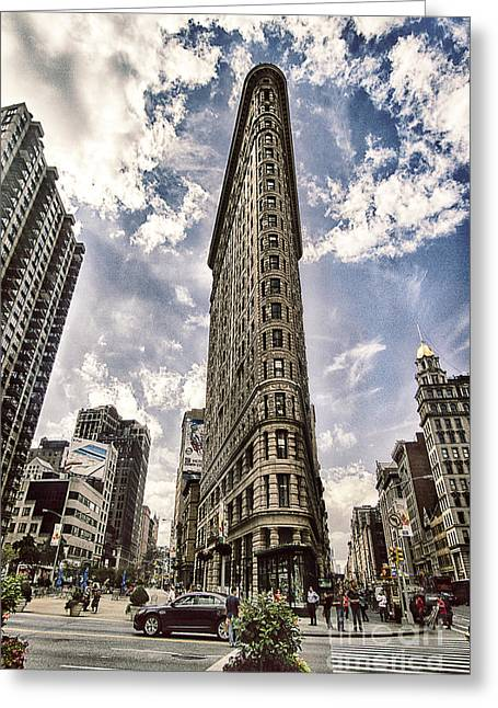 Flatiron From The Point Greeting Card