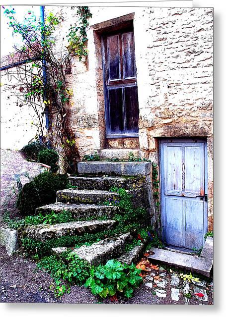 Flavigny Steps Greeting Card by Michael Dantuono