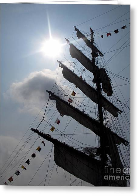 Fleet Week - Main Sail Greeting Card by Maria Scarfone