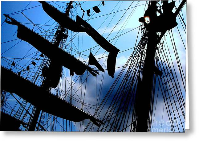 Fleet Week - Masts Greeting Card by Maria Scarfone