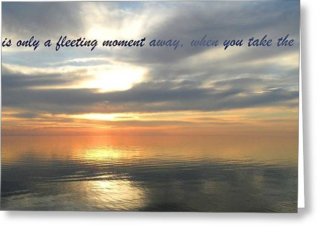 Fleeting Moments Greeting Card