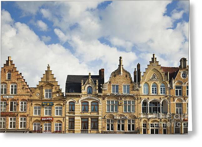 Flemish Architecture In Ypres, Belgium Greeting Card by Jon Boyes