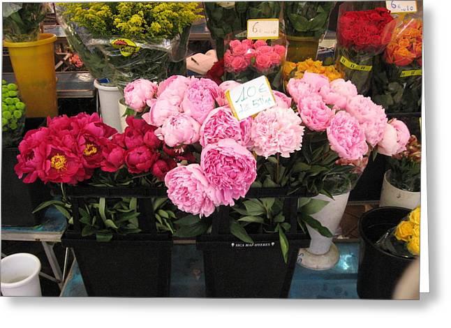 Fleurs Dans La Marche Du Nice Greeting Card by Sarah Foley